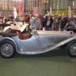 Superb 1937 SS 100 glistens on the Jaguar stand.