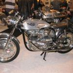 1958 Triton won best Cafe Racer. Triumph engine is fitted in Norton featherbed frame - hence Tri-Ton.