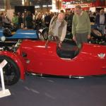 Checking out the finer points of Morgan 3-wheelers.