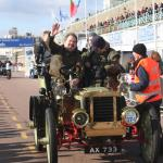 """Bonhams chief Malcolm Barber finishes the event - never a """"race"""" - aboard his 1903 Peerless."""