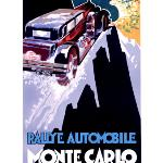 1930 Monte Carlo Rally poster
