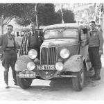 The Monte Carlo Rally in 1934. Johannes Menso is standing at the right front door.