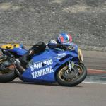 This Yamaha is either one of Christian Sarron's MotoGP bikes, or a replica.