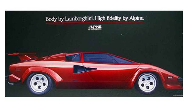 Classic Car Poster , Lamborghini Countach, Porsche 911SC