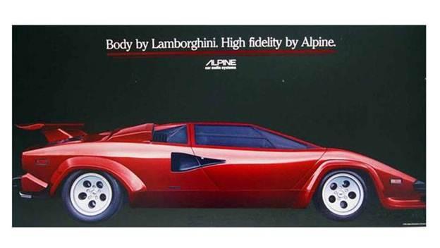 Classic Car Poster Lamborghini Countach Porsche 911sc Targa And