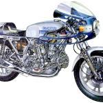 2014 Ducati 900SS cutaway