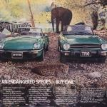 Triumph TR6 and Spitfire ad