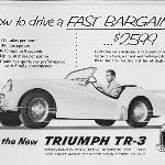 Triumph TR3 ad