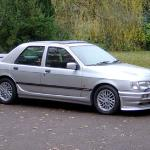 The Ford Sierra Sapphire Cosworth moved away from the hathback. This is a 1991 model.