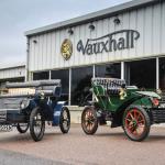 Vauxhall's entries into the London to Brighton Veteran Car Run: 1903 5HP (L) and 1904 6HP. (Photo (C) GM Company).