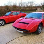 Maserati Merak SS and Porsche 944
