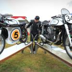 Author John Stein with the Manx Norton (number 5)
