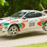 Toyota Celica ST205 on the Goodwood Forest Stage.