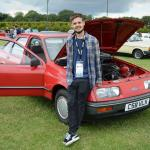 Sean Greenwood, with his 1986 Ford Sierra E-Max L