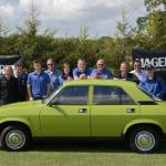 Team Hagerty, with 'Kermit', Jaguar Heritage's Hull Collection Allegro 1.1