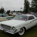 1961 Chrysler Windsor convertible (from Sweden) with a 1958 Oldsmobile four door Holiday Hardtop to the right and a 1958 Edsel two door hardtop.