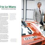 Hans Hermann (L) and Ferry Porsche in 1997. The car is 917-001/9 painted to look like 917-023.