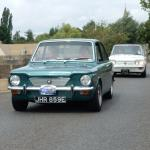 Hillman Imps taking part in an Imp Club rally.