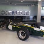 The Cosworth foyer: Lotus 49.
