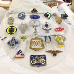 automotive mascots, badges and insignia.