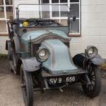 A few veteran cars made it: 1912 Renault.