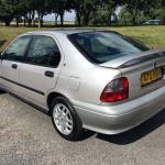 Rover 400- rear spoiler helps keep power on the road