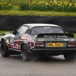 Alistair Flack and Gary Johnson put the power down in the TR7 V8