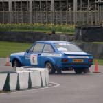 Stuart Cogger and Ade Summers get their 2-litre Escort sideways