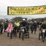 The start of the 2016 Sunbeam Club's Pioneer Run.