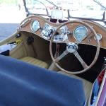 1948 MG TC was earliest car- lovely interior.