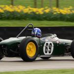 Andrea Guarino in his Lotus 18. (photo- S. Mosley)