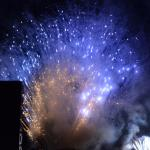 As always Saturday evening closes with a monumental firework display (photo- S. Mosley)