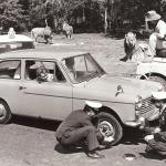1970 RAC Patrols brave the lions at Windsor Safari Park