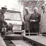 1974 Mr E Charles (centre) RAC home services exec