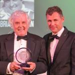 Brian Redman receives his award from Tom Kristensen