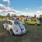 Herbie and Mr Bean's Mini at the 2016 Warren