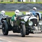 Oversteer Overington exits the chicane in his 4.5 Blower Bentley with aplomb