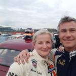 Silverstone Selfie - James Wood and Maria Costrello