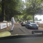 In line for the start of the Goodwood Hillclimb