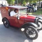 Ste in the 1930 Austin Seven van