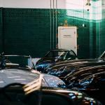 Inside of the Blast House Bicester Heritage, classic car showroom