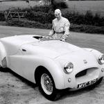 Ken Richardson with the Triumph TR2