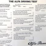 The Alfa Driving Test