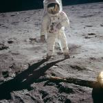 Aldrin on the Moon (photo Neil Armstrong)