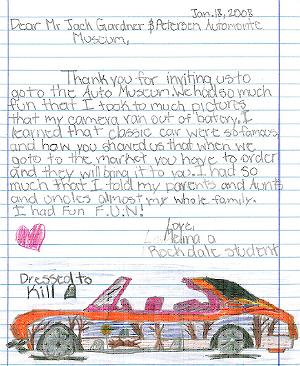 Rockdale student letter.