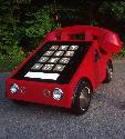Big Red Phone car