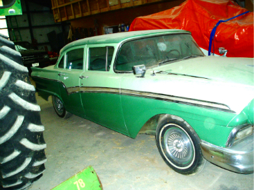 This '57 Ford Fairlane was found under a tarp in a barn in Colorado.