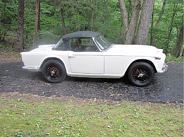 Fred Robson's granddaughter has named his '67 TR4A