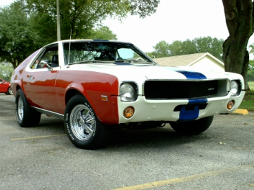 This '69 AMX was restored to match his mother's old car -- which he found, but couldn't buy.