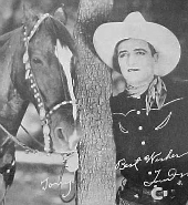 Tom Mix and his horse, Tony, in a publicity photo from the 1910s or 1920s.